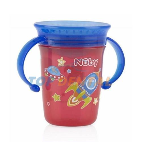 NUBY VASO 360° WONDER CON ASAS X240 ML