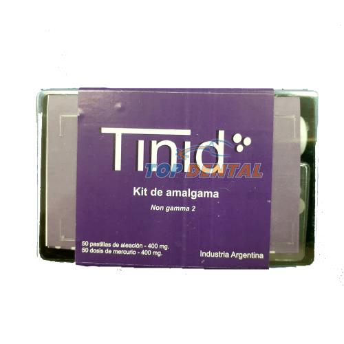 TINID KIT DE AMALGAMA X50 MERCURIO + 50 ALEACION